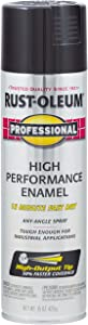 Rust-Oleum 7579838-6 PK Professional 7579838 High Performance Enamel Spray Paint, 15 oz, Gloss Black, 6-Pack, 6 Pack