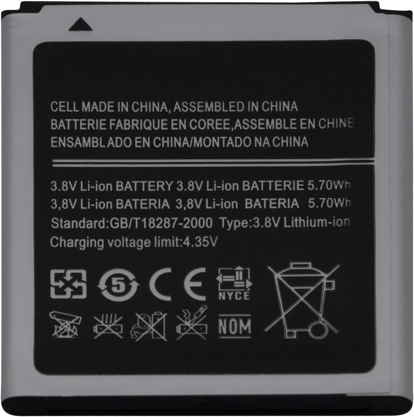 1500mAh Capacity Lithium-ion Battery EB425161LU Fits for Samsung Galaxy Ace II