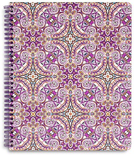 Vera Bradley Large Spiral Notebook with Pocket and 160 Lined Pages, Dream Tapestry ()