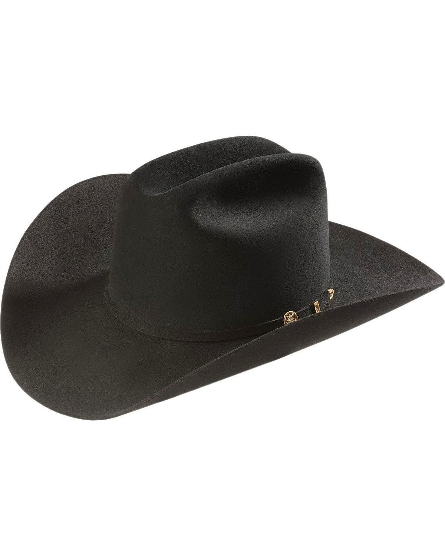 Stetson Men's 100X EL Presidente Fur Felt Western Hat Black 7 3/8