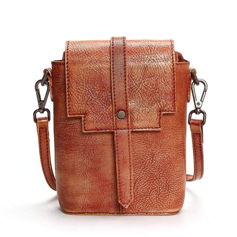 Bloomerang Vintage Shoulder Bags Women Leather Handbags Chain Small Women Messenger Bag Candy color Women Shoulder Bag Party Lock Purse color Brown