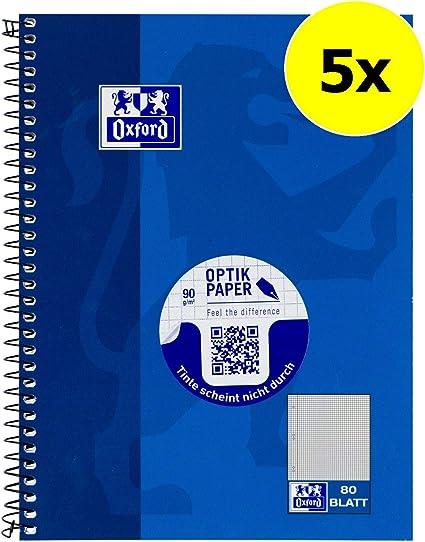 Hamelin Paperbrands 384508028 - Lote de 5 libretas de cuadros (DIN ...