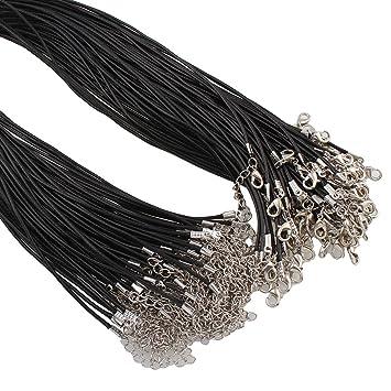 10 HALSBAND ORGANZA mit BAUMWOLLKORDEL Verschluss Halskette Wachsband BEST C31