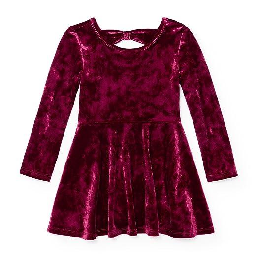 2ec9f26ba1 Amazon.com  The Children s Place Baby Girls  Little Solid Velvet Dress