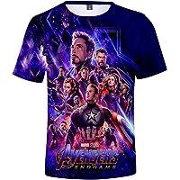 PANOZON Camiseta Niños Impresión de Vengadores Endgame para Fanes de Superhéroes T-Shirts Unisex