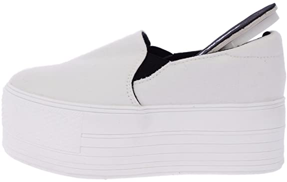 37d4e2f7d71ad Maxstar C7 60 Synthetic Cotton White Platform Slip on Sneakers