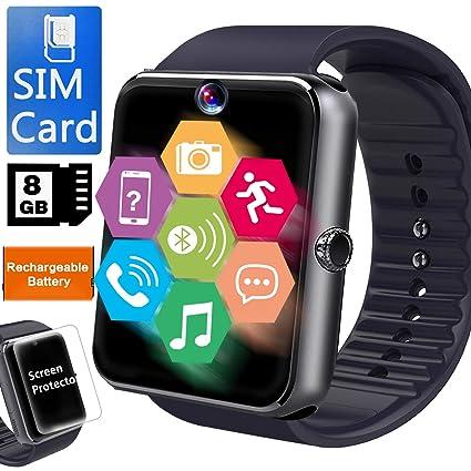 Amazon.com: Reloj inteligente para teléfono Android [tarjeta ...
