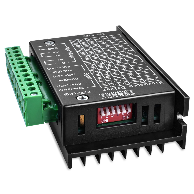Nema 17 Stepper Motor 1.7A//24V 0.4Nm 40mm for 3D Printer 56.2oz.in Quimat TB6600 Stepper Motor Driver 32 Segments 4A 40V 57//86