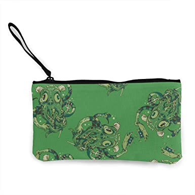 Make Up Bag,Cellphone Bag With Handle Cute Octopus Zipper Canvas Coin Purse Wallet