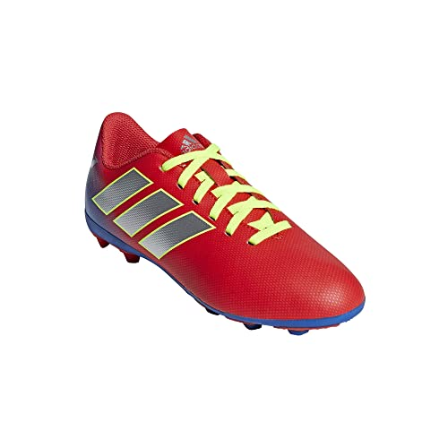 adidas Nemeziz Messi 18.4 FxG J, Zapatillas de Fútbol para Niños, Rojo Active Red/Silver Met./Football Blue, 32 EU: Amazon.es: Zapatos y complementos