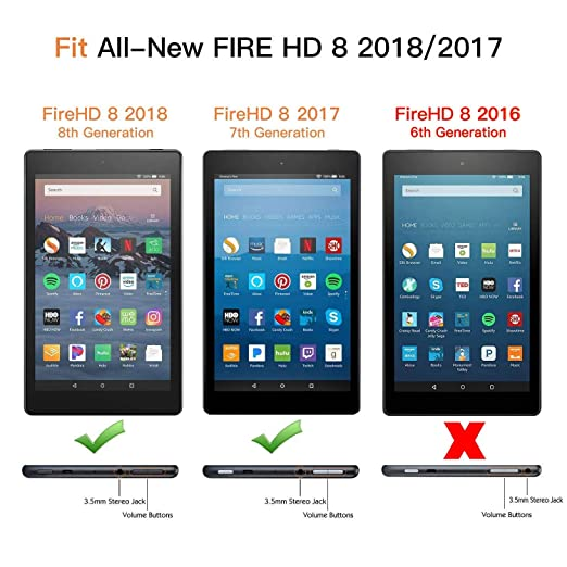 amazon fire hd 8 2018 ケース ztotop 2018第八世代 2017第七世代