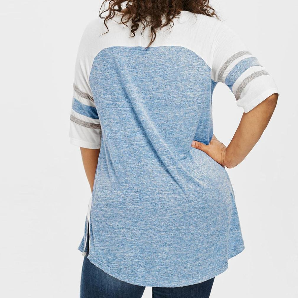 Camiseta Blusa para Mujer Sexy, Covermason Las Mujeres Ocasionales del Vendaje más tamaño Top Patchwork Camiseta Blusa: Amazon.es: Ropa y accesorios