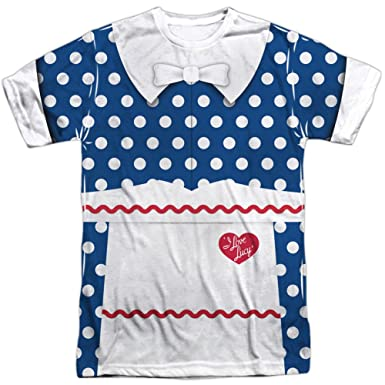 I Love Lucy- Polka Dot Costume Tee (Front/Back) T-Shirt  sc 1 st  Amazon.com & Amazon.com: I Love Lucy Menu0027s Lucy Costume Sublimation T-shirt White ...