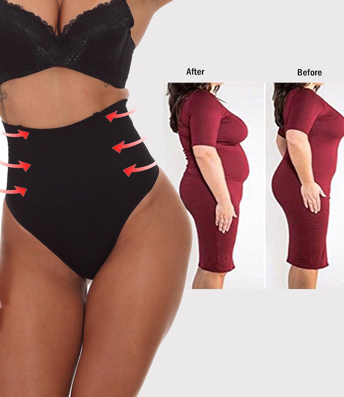 NINGMI Donna Mutande Body Snellente Shaper Thong Corsetto Bustino Intimo Modellante Shapewear String Cintura Slip