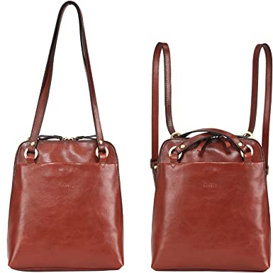 1a734800b95 Amazon.com: Banuce Fashion Convertible Small Women Backpack Purse Vintage  Full Grains Italian Leather Purse Ladies Shoulder Bag Travel Daypack Brown:  ...