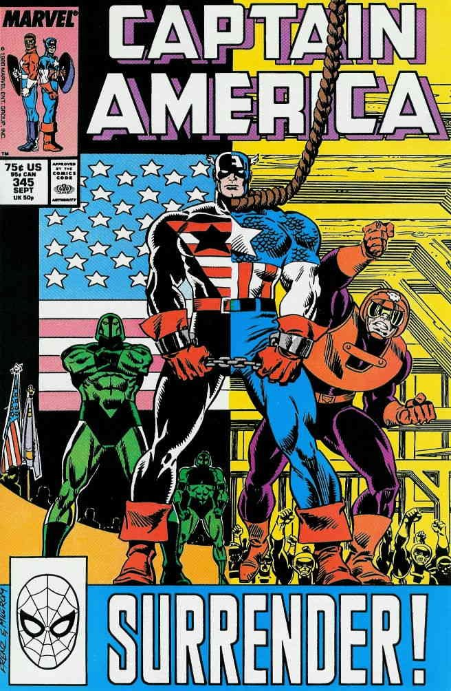 Captain America (1st Series) #345 VF ; Marvel comic book
