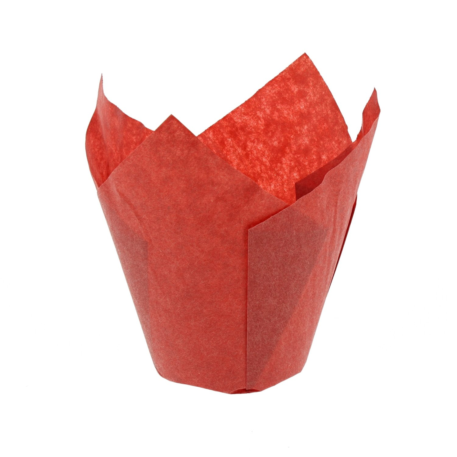 CiboWares Small Red Tulip Style Baking Cups, Case of 2,000