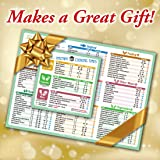 "Instant Pot Accessories Best Improved Cooking Times Cheat Sheet Magnets 11""x8"" (Green) 100+ Food Types Large Font Magnetic Pressure Cooker Cook Times Chart Guide Holiday New Year Gift by Superb Home"
