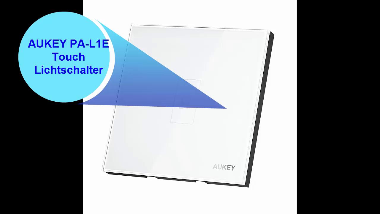 AUKEY Touch Panel Schalter, mit Touchscreen aus Kristallglas-Panel ...