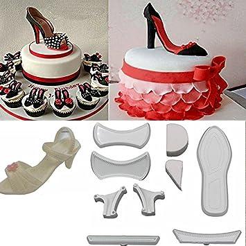 Somtis 9 Piezas de Zapatos de tacón Alto para Fondant, Molde para Tartas, Molde de azúcar, Herramientas de decoración: Amazon.es: Hogar