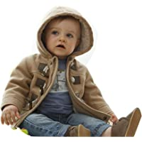 Gaorui Baby-Boys' Warm Fleece Hooded Coat Horn Button Outerwear Snowsuit Jacket