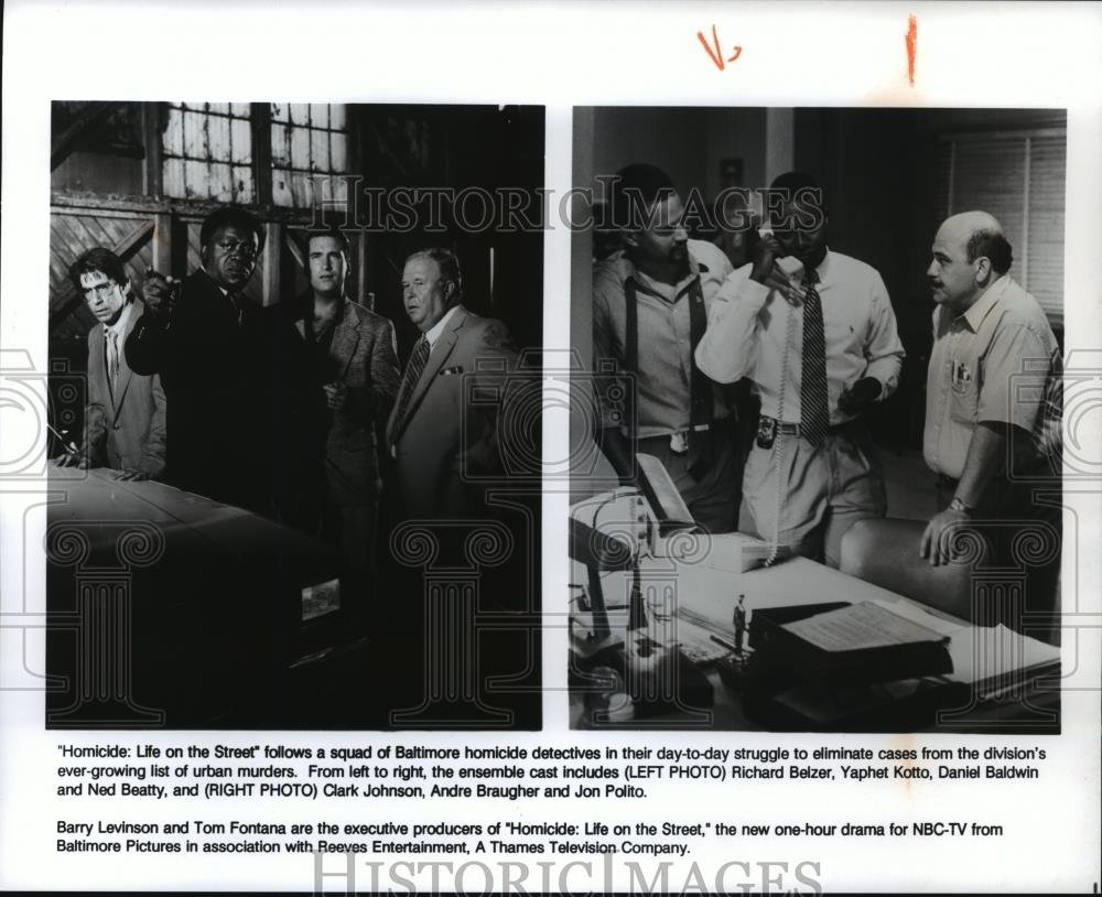 Amazon.com: 1993 Press Photo Richard Belzer & Daniel Baldwin in Homicide:  Life on the Street: Photographs