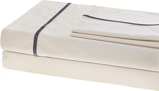 Juego de sábanas 100% algodón egipcio, 750 hilos, grapas largas ...
