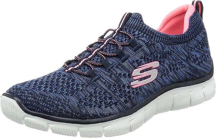 Skechers Damen Empire Sharp Thinking Slip On Sneaker, Schwarz, 35.5 EU