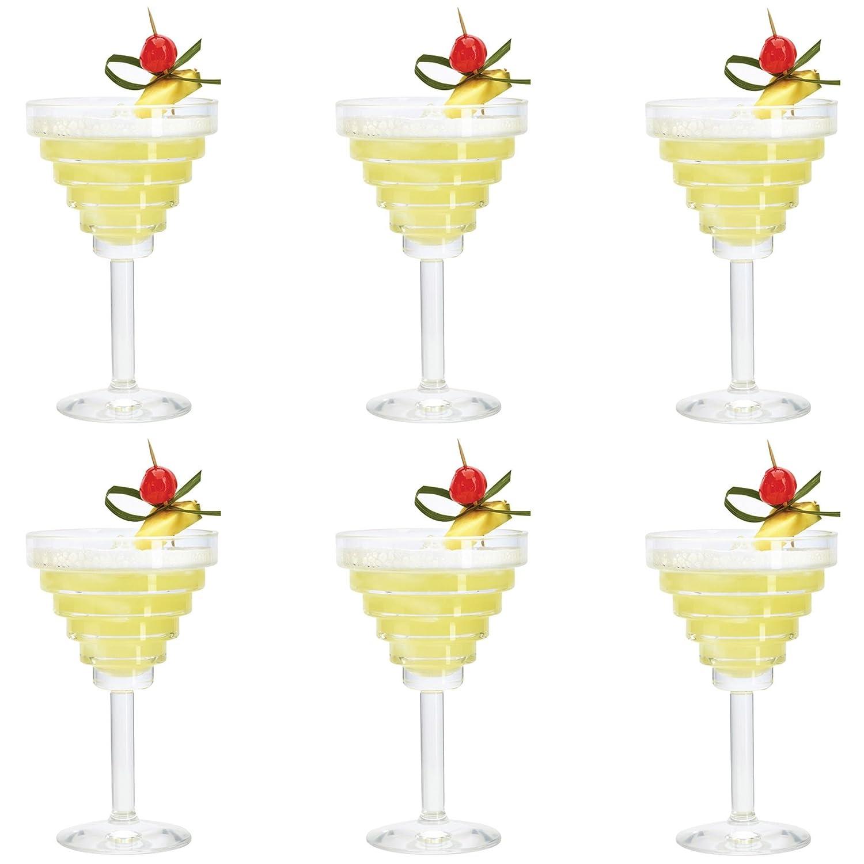 Pack of 6 Glasses 260ml Durobor Etore Martini//Margarita//Cocktail Drinking Glass