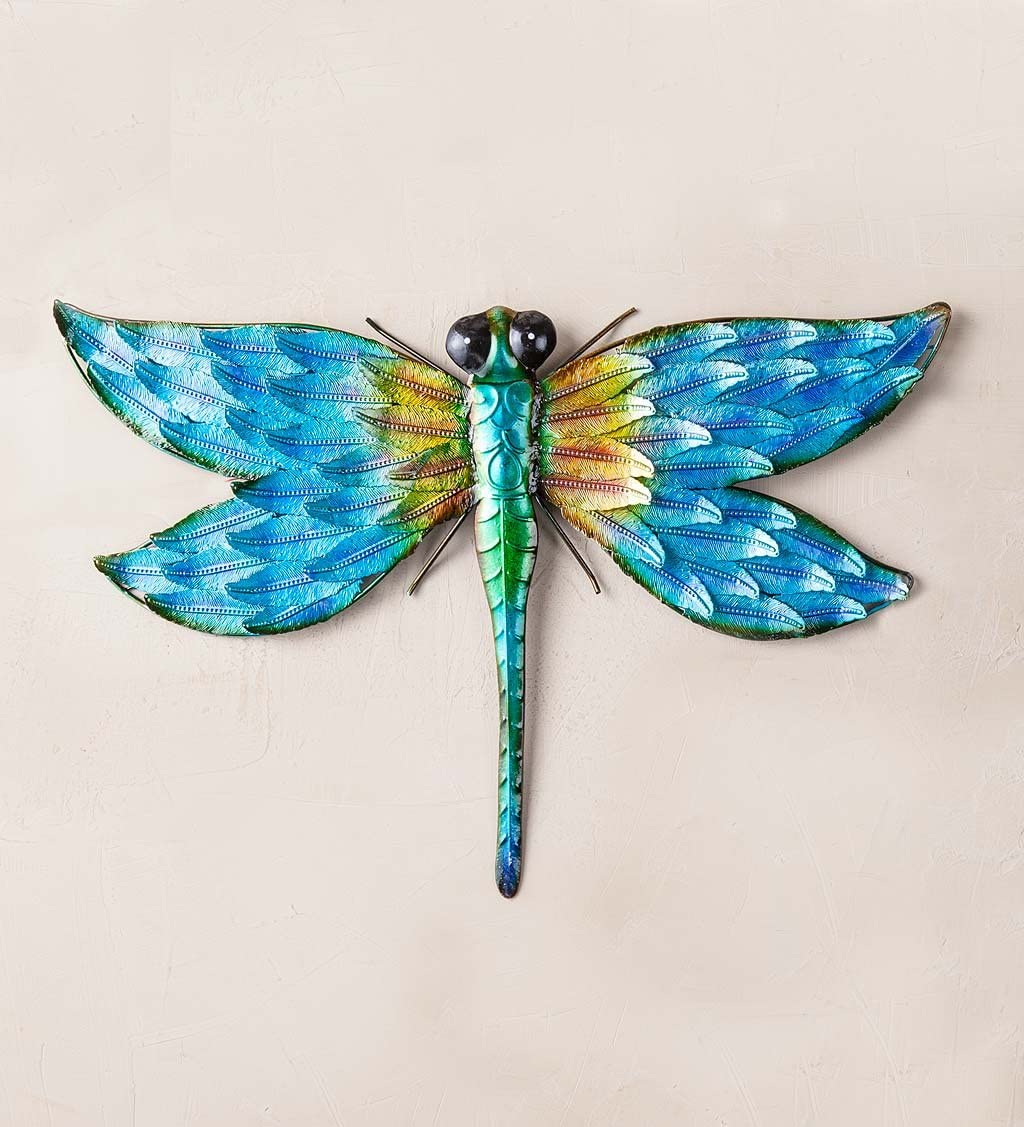 Plow Hearth 54496 Dragonfly Wall Art, Blue