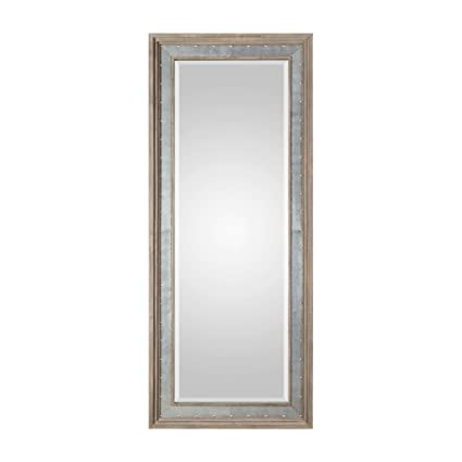Amazon Com Rustic Wood Metal Full Length Industrial Mirror 82