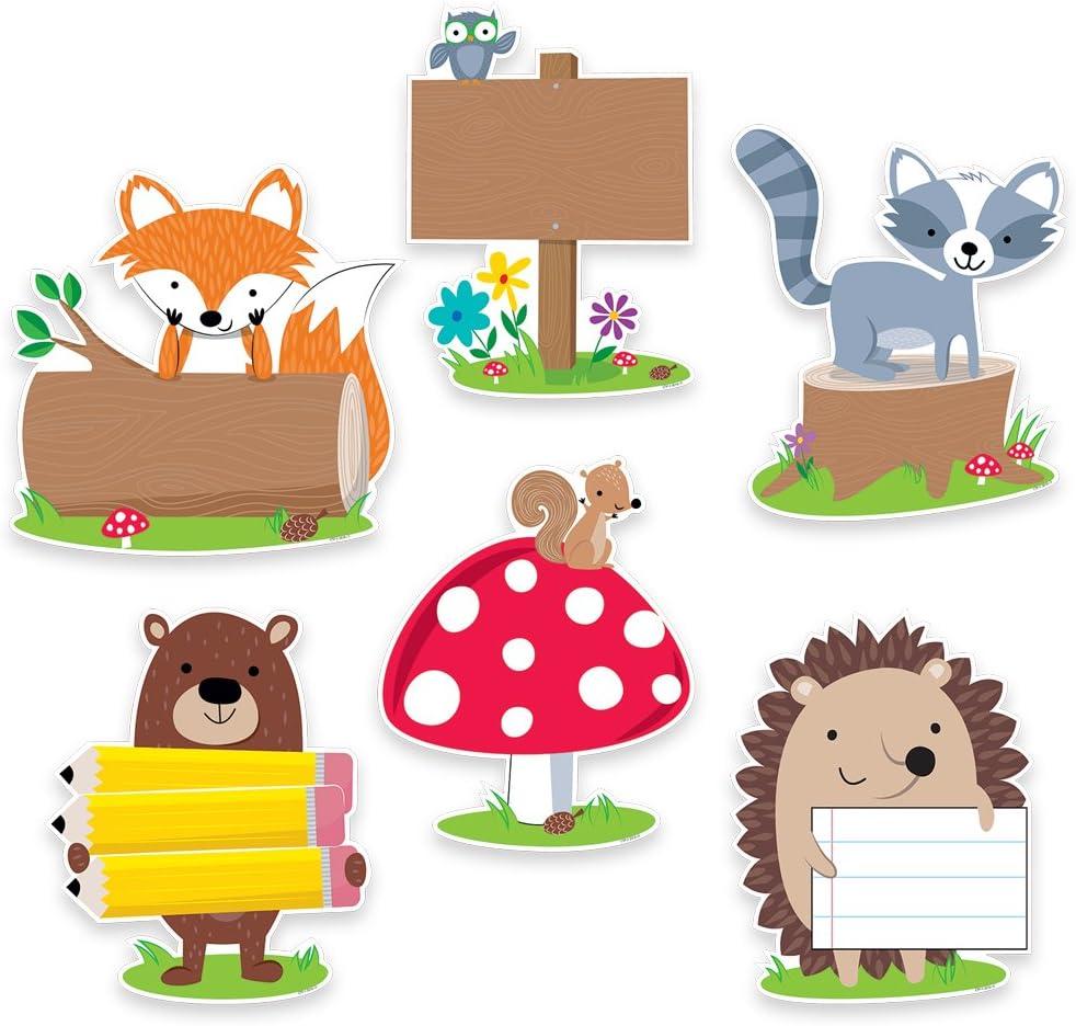 "Creative Teaching Press Woodland Friends 10"" Jumbo Designer Cut-Outs (7048)"