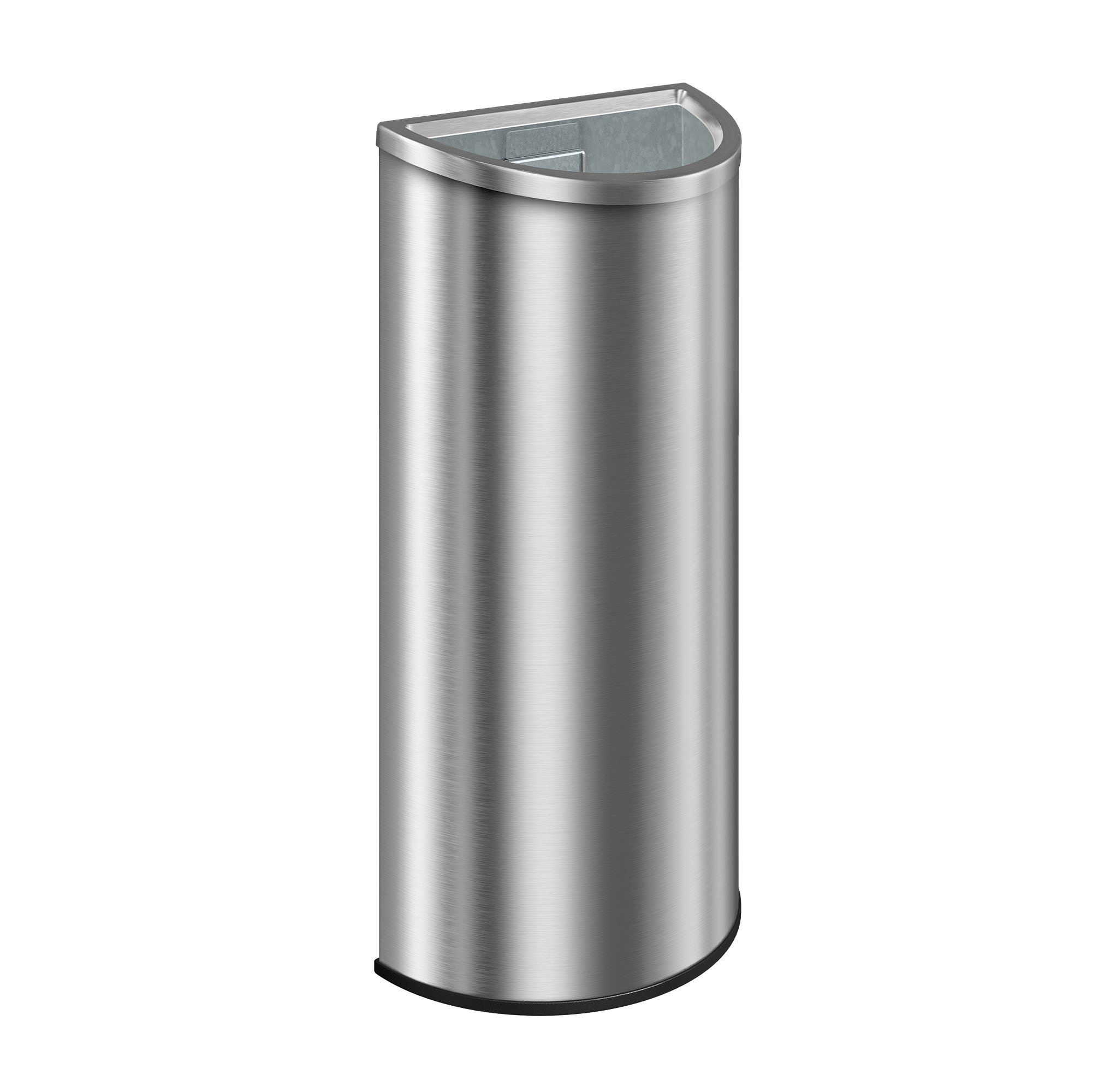 Suncast Commercial MTCRES1201 Metal Crescent Indoor Trash Can, 12 gal , 32.71'' Height, 13.46'' width, 11.7 gallons Capacity, Metal , Chrome by Suncast Commercial
