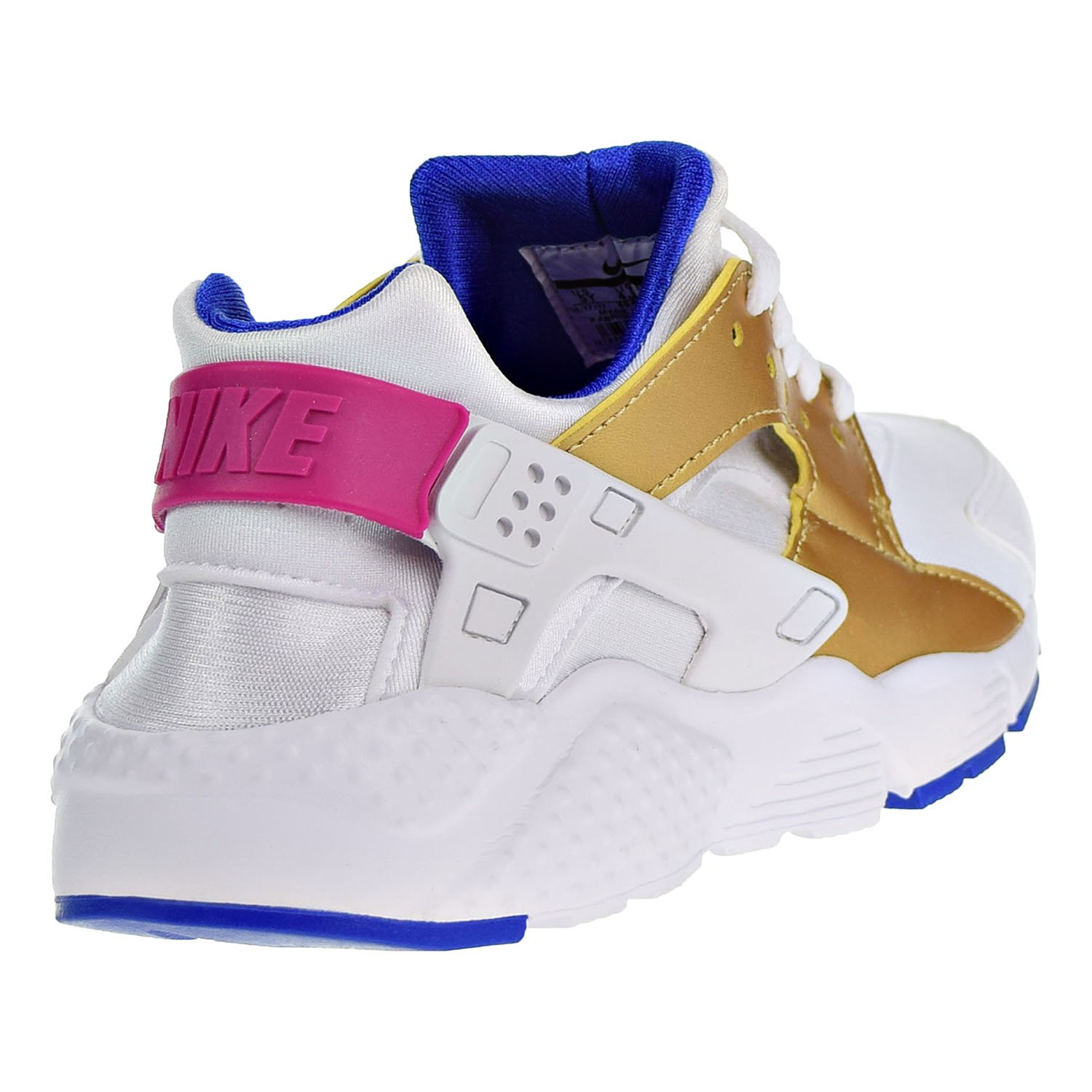 Details about Nike Huarache Run (GS) 654280 109 White Gold Blue Big Kid's Sportswear Shoes