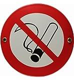 Emaille Schild Rauchen verboten 15 cm Rauchverbot Nichtraucher Nichtraucherzone wetterfest und lichtecht Emailleschild