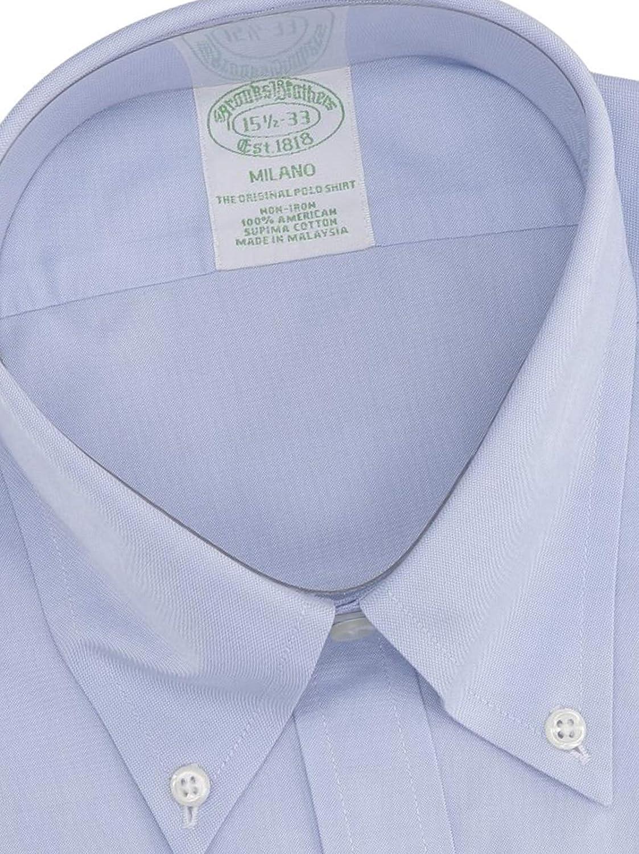 BROOKS BROTHERS Mod. 146666 Camisa Milano Popelina Non-Iron Hombre Azul Claro 42: Amazon.es: Ropa y accesorios