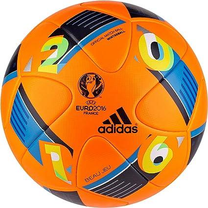 4fc927a688 Amazon.com  Adidas Euro16 Winter High Visibility Official Match Soccer Ball  (Orange) Beau Jeu  Sports   Outdoors