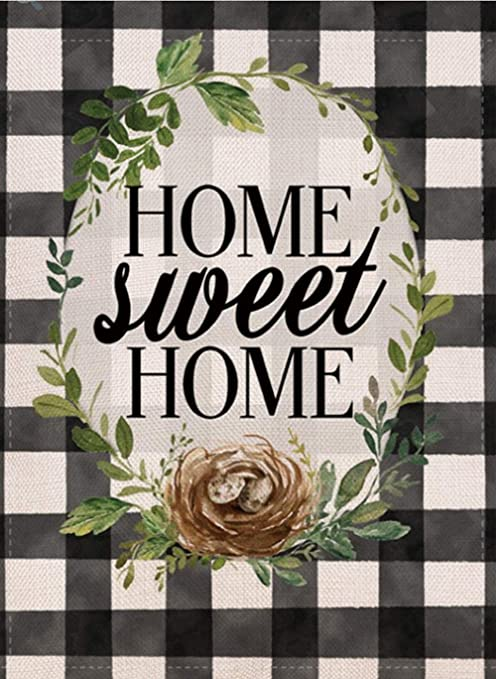 MINI GARDEN FLAG HOME SWEET HOME BEE 11 X 15 NEW  ITEM