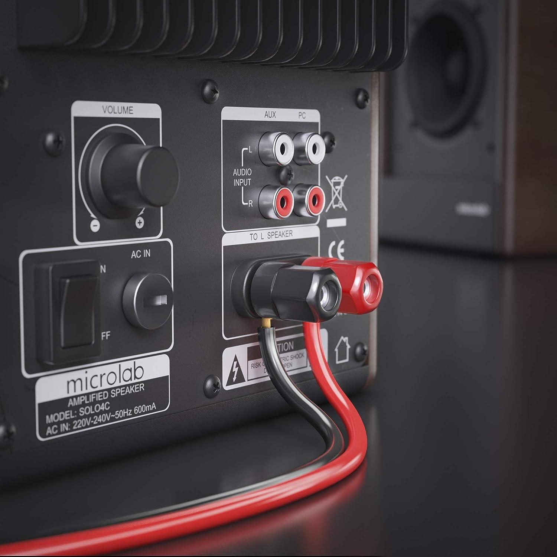 sonero/® 50 metros 2x1.50mm/² Cable de altavoz CCA color blanco