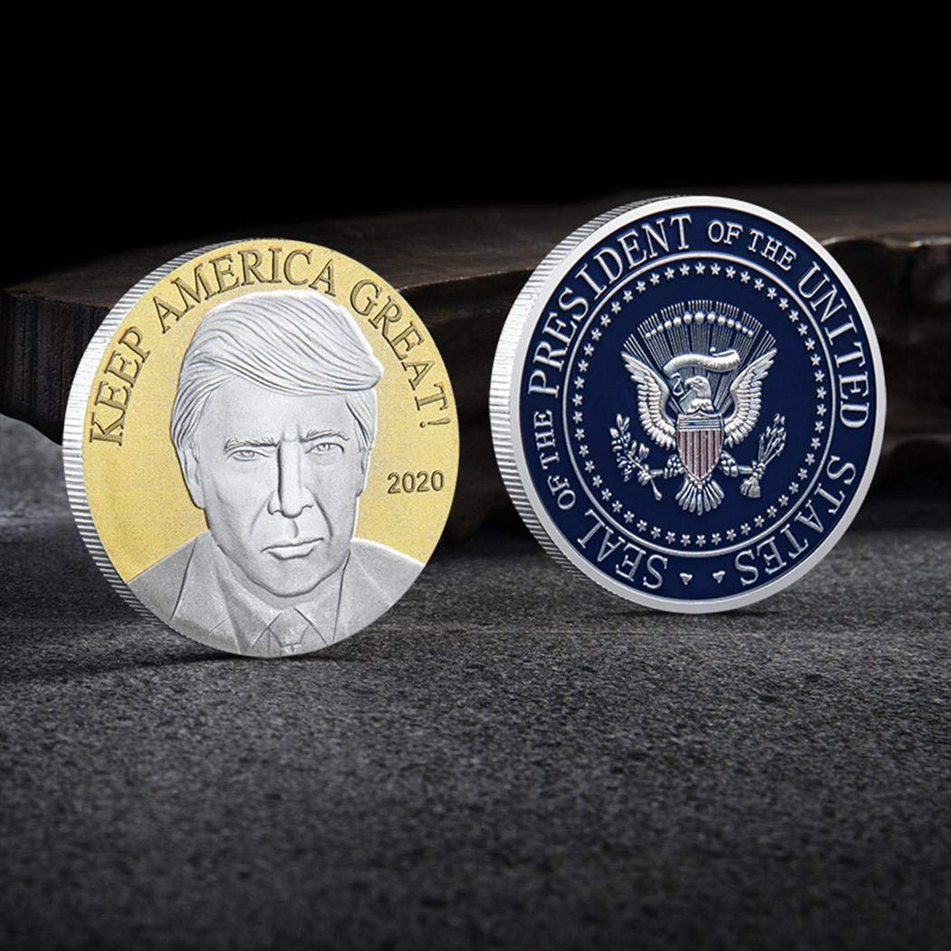 xabern Double Colors 2020 Trump American Eagle Commemorative Coin US Coins