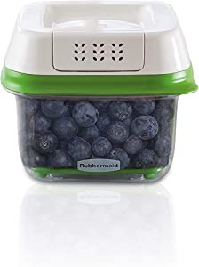 Rubbermaid FreshWorks Produce Saver Food Storage Container, Small Square, 2.5 Cup, 2pack