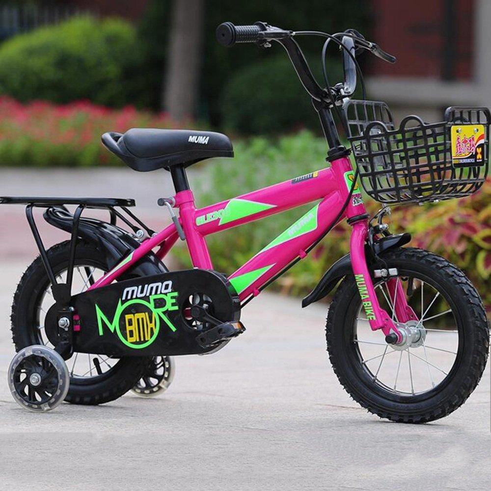 YANGFEI 子ども用自転車 2-10歳の男の子と女の子の12インチ/14インチ/16インチ/18インチのキッズバイク 212歳 B07DWPPP7V 14 inch|ピンク ぴんく ピンク ぴんく 14 inch