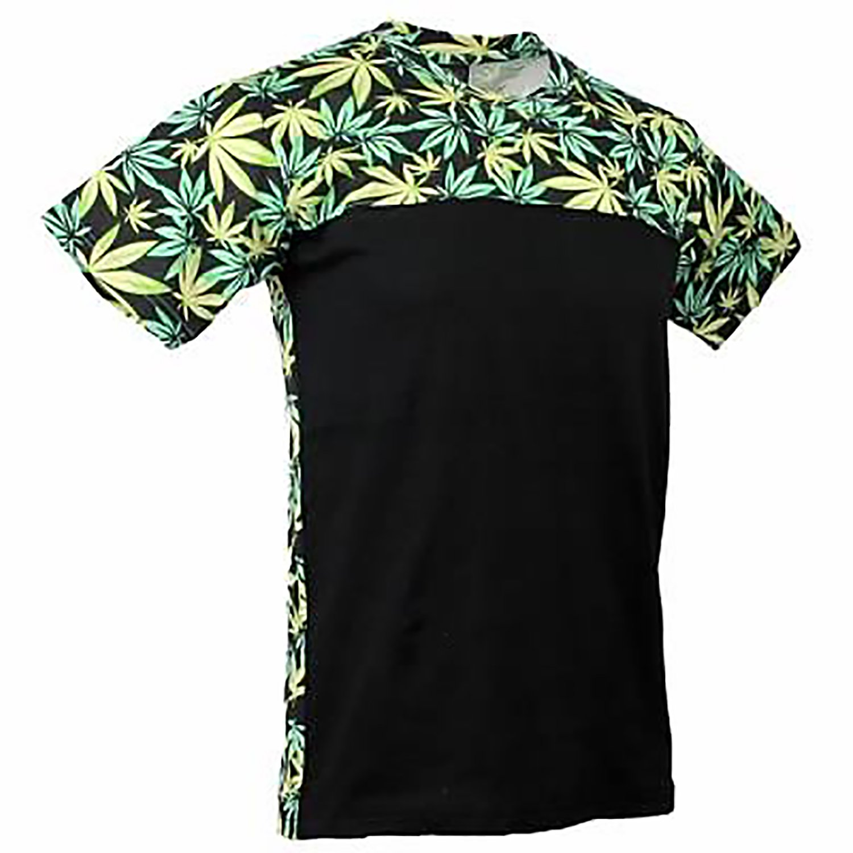 a0a0c979 Weed Print Marijuana Cannabis Hemp Green Leaf Shirt Maui Kush (Green/Black) Tee  T Shirt T-Shirt | Amazon.com