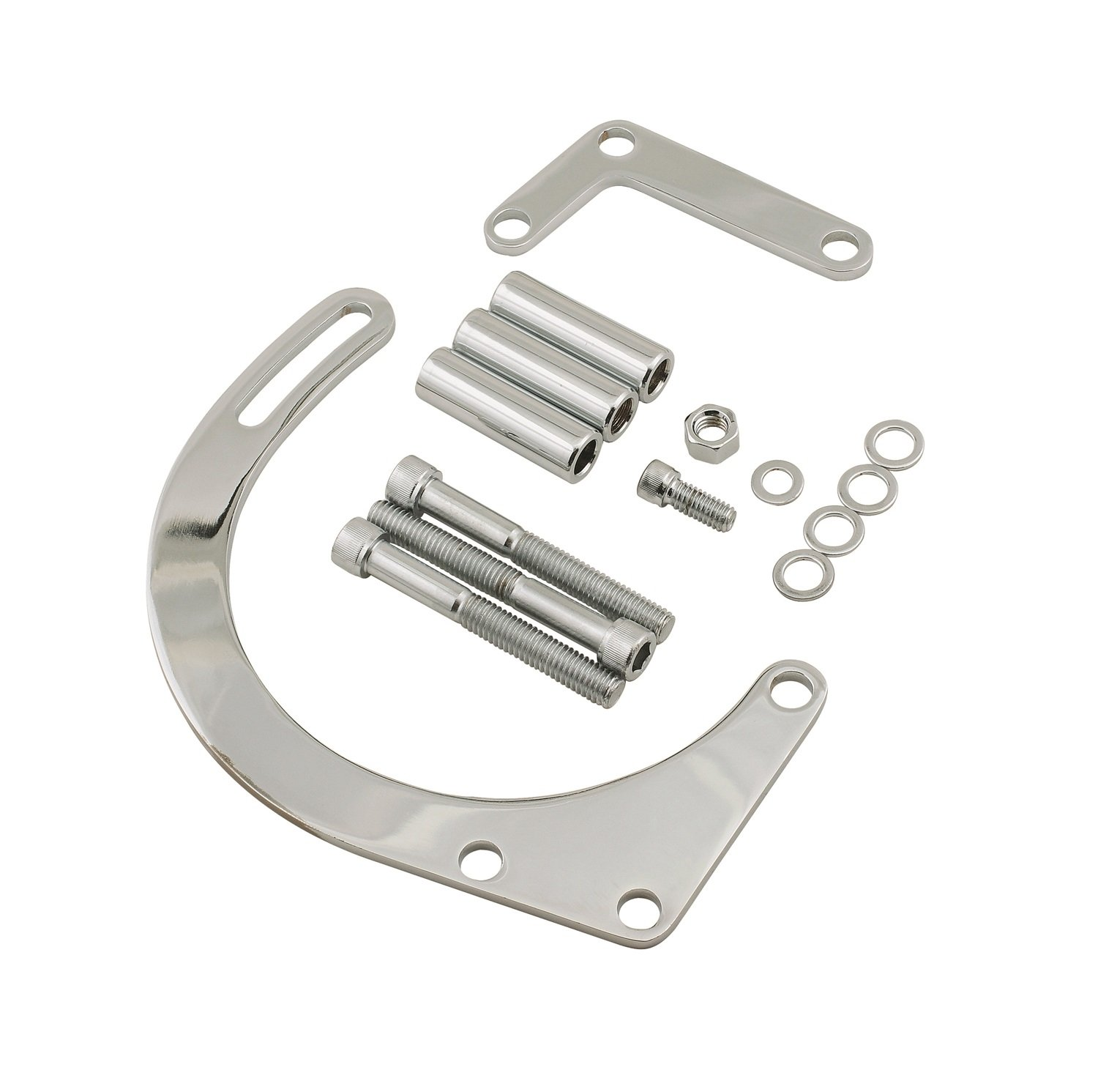 Mr. Gasket 5179 Chrome Plated Alternator Bracket