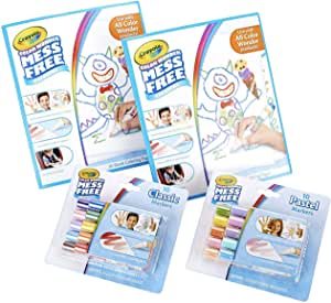 Crayola Color Wonder Mess Free Coloring Kit, 80pc, Toddler Toys, Kids Indoor Activities at Home