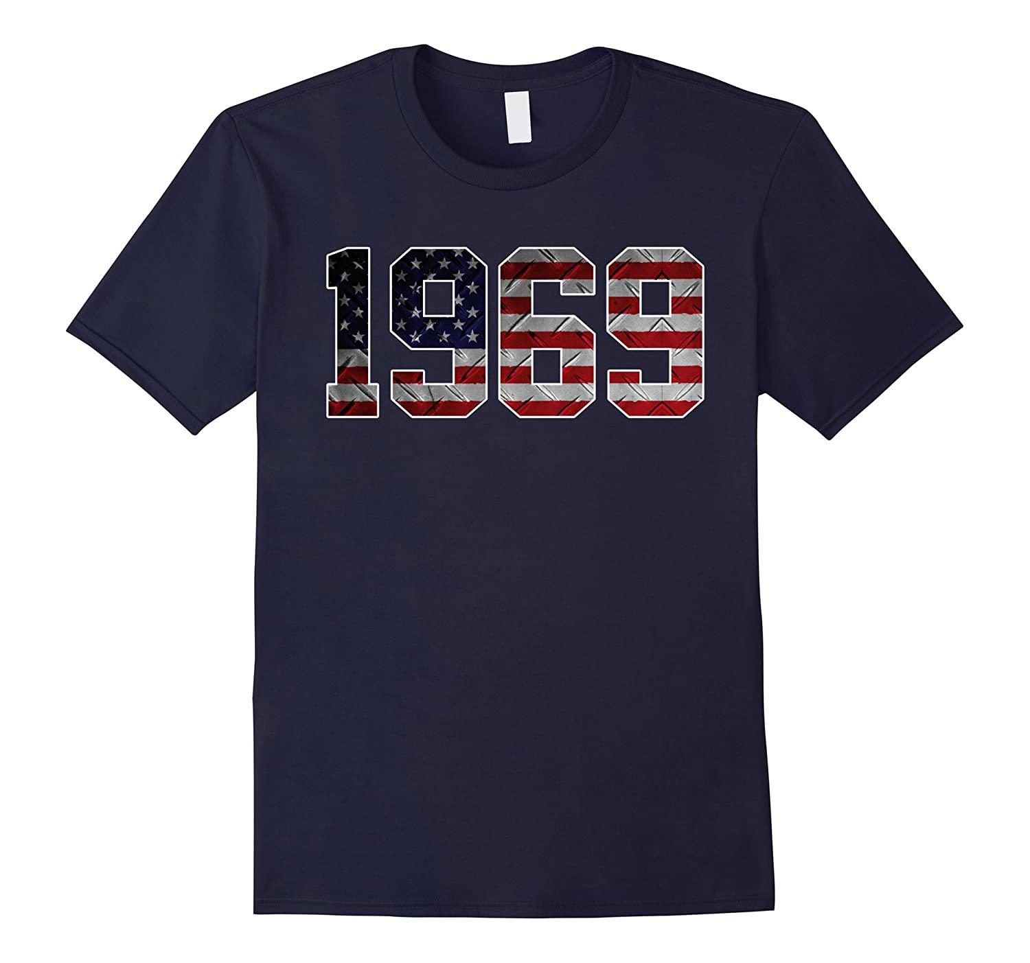 1969 American Flag T-shirt 48th Birthday Gifts-PL