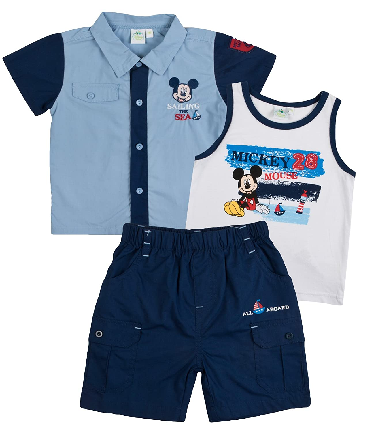 Disney Mickey Mouse Baby Boys Outfit Sailing The Sea Shoe Directory