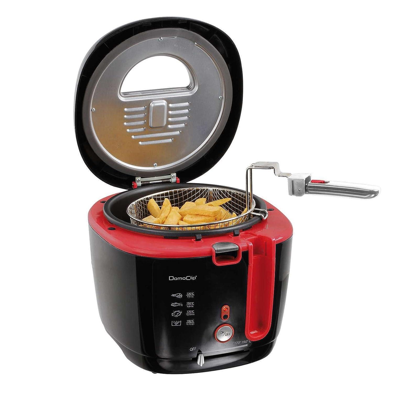 Friteuse 2,5 l Filtre /à odeurs Starke 1800 W Panier /à friteuse pour 1 kg 2 l Rev/êtement anti-adh/ésif Couvercle avec fen/être et thermostat r/églable