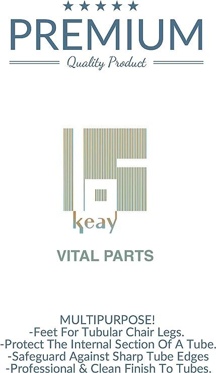 Paquet de 36 Fabriqu/é en Allemagne by Keay Vital Parts Protecteur de sol Pieds de Meuble en Plastique Blanc Avec Vis 25mm Diam/ètre