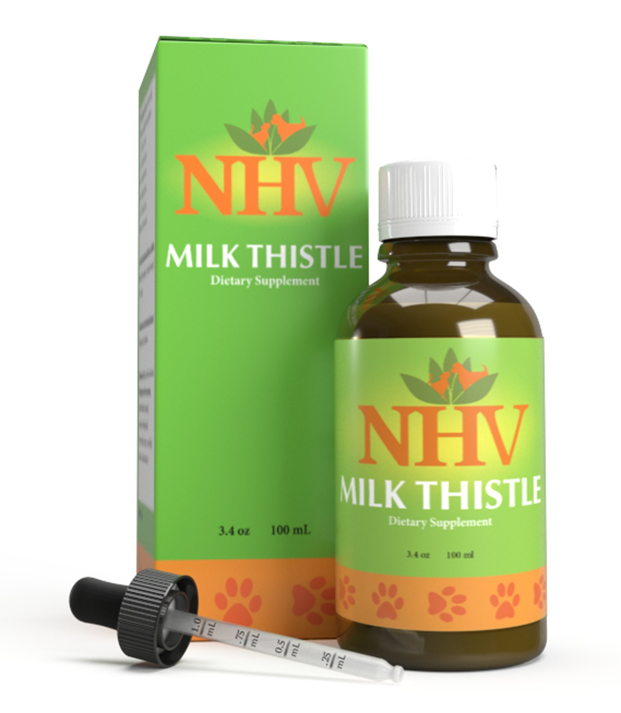 NHV Milk Thistle - Support for Liver Disease, Liver and Kidney Detox, Kidney Support in Cats, Dogs and Small Pets